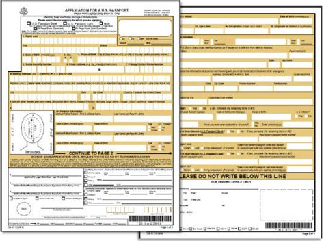 Collection Of Application For A U S Passport Form Ds 11 2010 U S