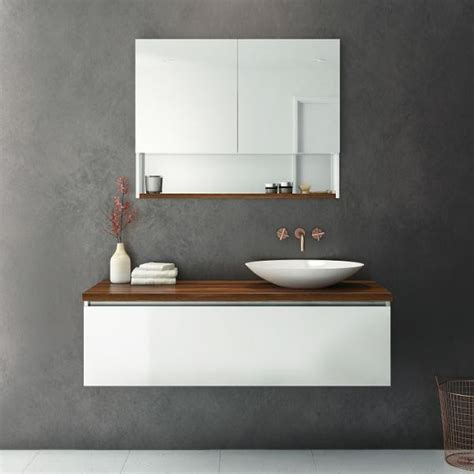 Bathroom Vanity Cabinets Perth by Rifco Platinum Vanity With Timber Top 1200mm Tuck