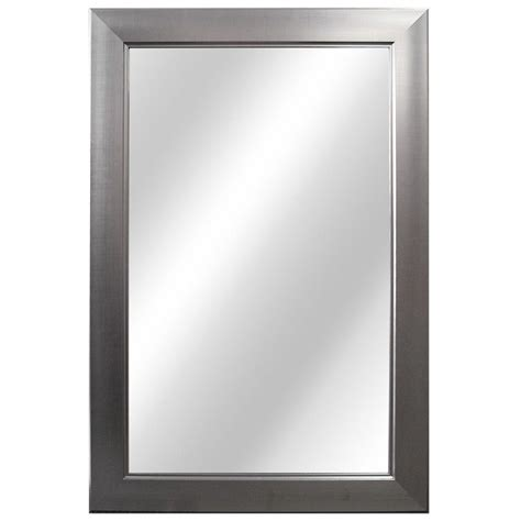 home decorators mirror home decorators collection 24 in w x 35 in l framed fog free wall mirror in brushed nickel