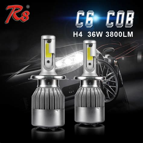 Led C6 H4 6000k r8 c6 h4 led headlight bulb 12v 55w 35w 6000k g8 base led