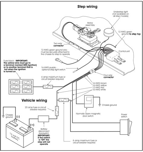 kwikee electric step wiring diagram lci step