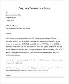 Employment Certification Letter For Visa Sample Letter Of Employment Verification 10 Examples In Pdf Word