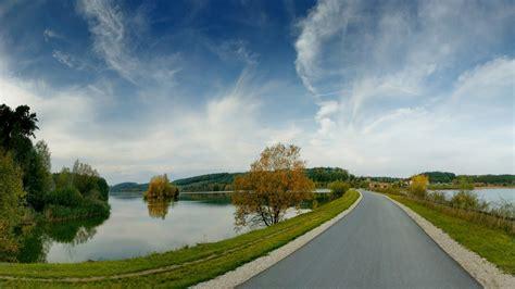 wallpaper  road lakes coast landscape