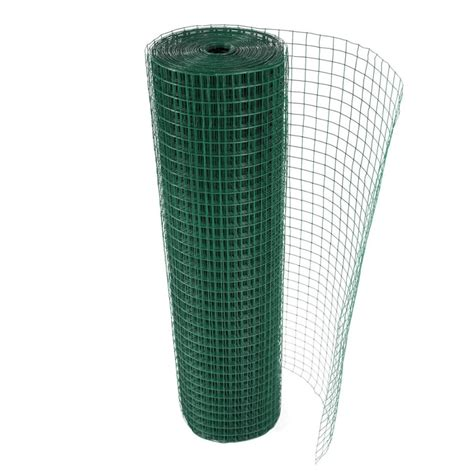 green pvc coated galvanised square welded wire mesh netting