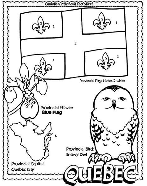 Coloring Pages Quebec | canadian province quebec coloring page teaching sst