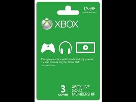 Xbox Live Sweepstakes - free xbox live giveaway 3 months gold youtube