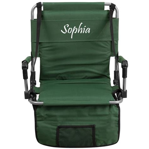 canvas material for chairs personalized folding green canvas fabric stadium chair