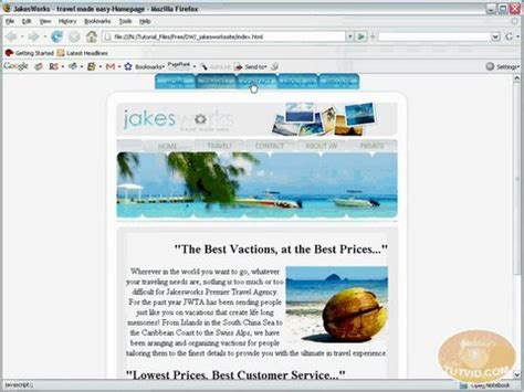 dreamweaver tutorial navigation bar tabbed navigation bar dreamweaver tutorial youtube