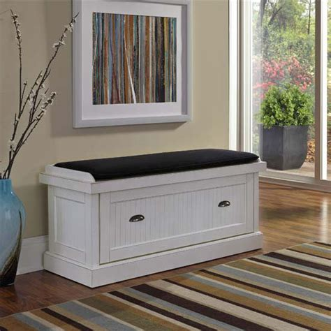 nantucket storage bench home styles nantucket upholstered bench with enclosed
