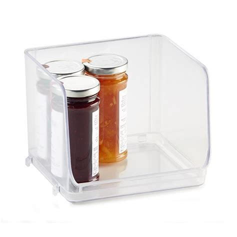 Stackable Pantry Containers by Stackable Pantry Tray Small Clear Kmart