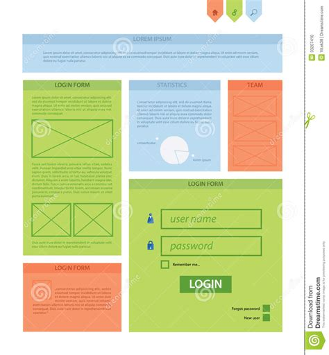 Vector Rectangle Background Template Infographic Template With Stock Vector Image 33207410 Website Content Template