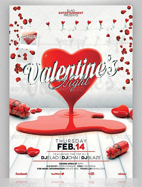 29 day cards templates 17 best valentines day flyers cards templates 2017