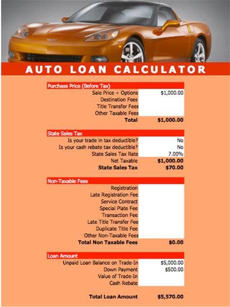 boat loan calculator bc auto loan calculator excel template download loan