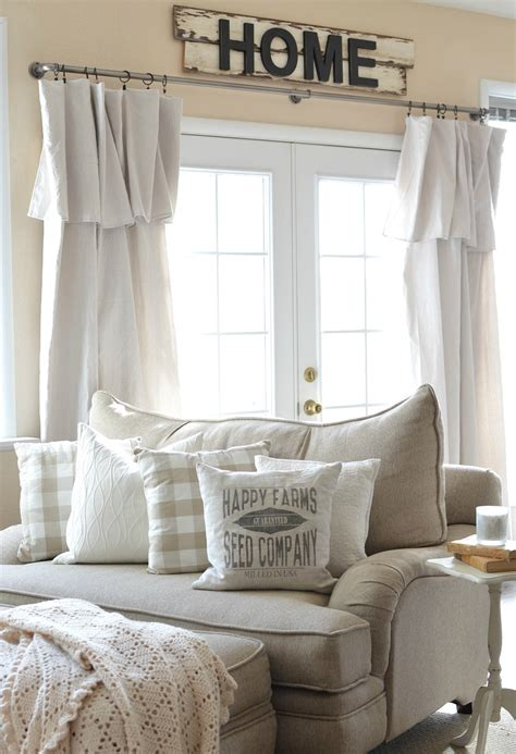 4 warm and luxurious modern farmhouse decor ideas farmhouse style living room curtains farmhouse living