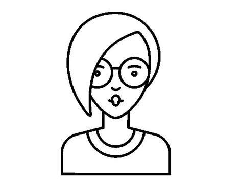 pelos cortos de chica dibujo de chica con pelo corto para colorear dibujos net