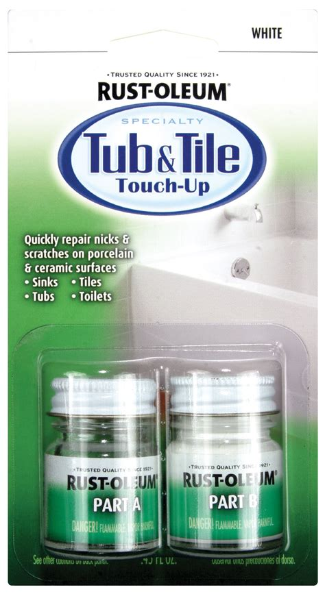 galleon rust oleum 244166 specialty kit tub and tile touch up white