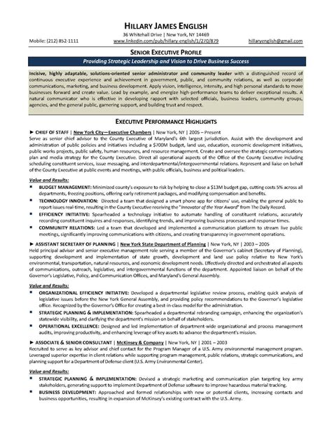 Executive Resume by Resume Sles Elite Resume Writing