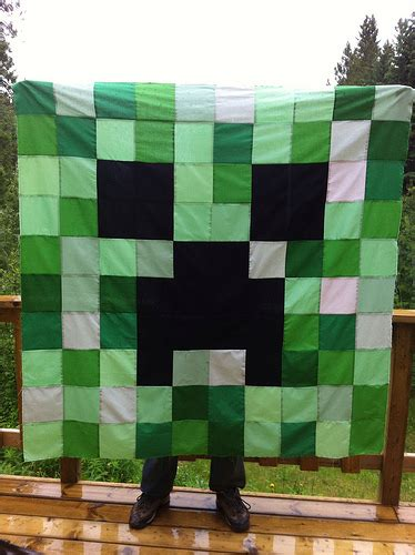 Minecraft Quilt Fabric by Cora Quilts Minecraft Creeper Quilt Top