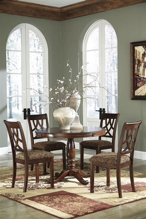 ashley furniture dining room set buy ashley furniture leahlyn round dining room table set