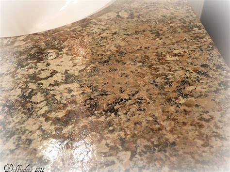 Faux Granite Countertop Paint Kit by Diy Painted Countertops Using Giani Granite Paint Kit