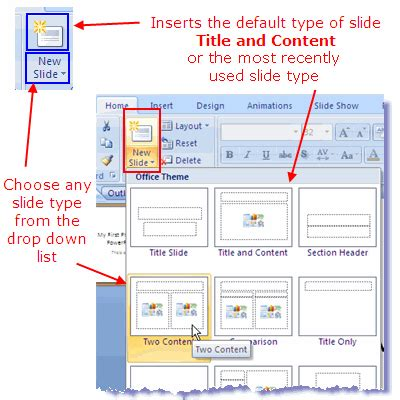 how to design layout in powerpoint 2007 slide layout types in powerpoint 2007