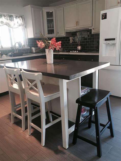 ikea stenstorp kitchen island hack    view