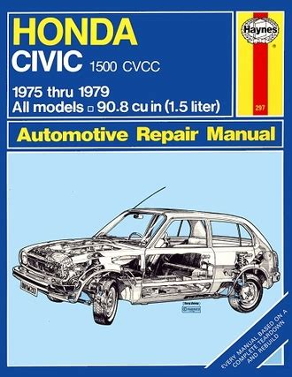 service manual books about how cars work 1979 chevrolet honda civic 1500 cvcc repair manual 1975 1979 haynes 42022