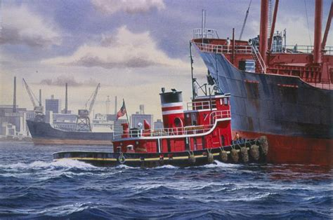 tugboat painting watercolor painting of the tugboat circa in philadelphia