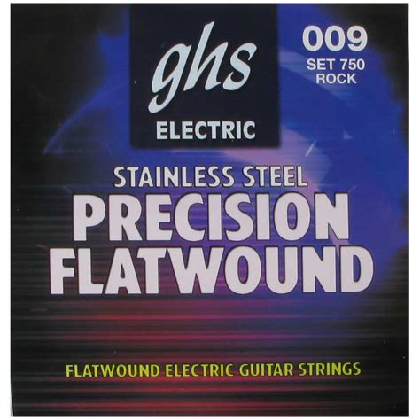 ultra light electric guitar strings ghs 750 precision flats flatwound ultra light electric