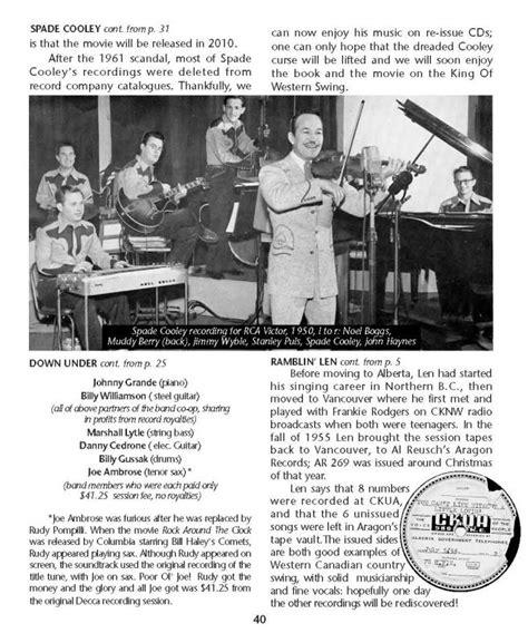 western swing society newsletter 2009
