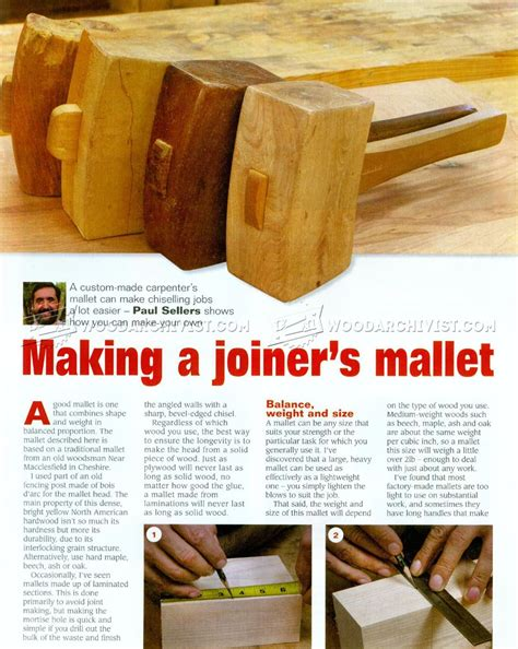 making joiners mallet woodarchivist