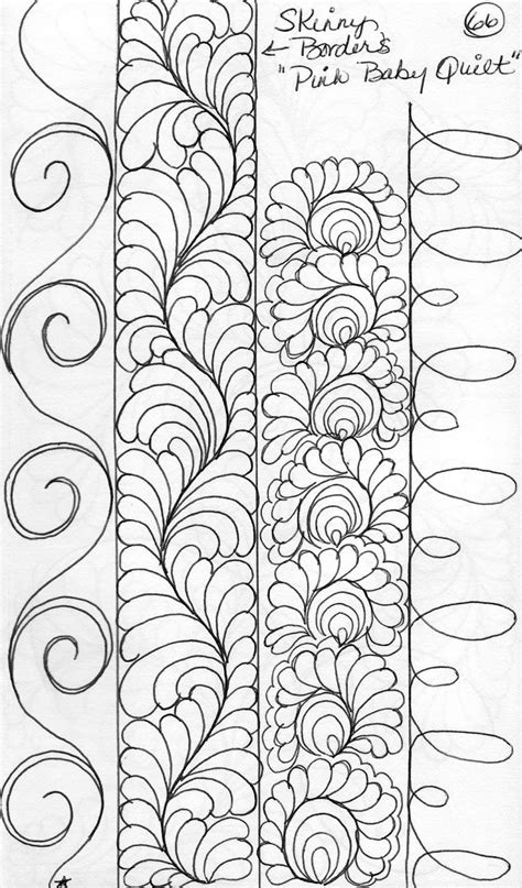 Quilting Border Designs Free by Luann Kessi Quilting Sketch Book Narrow Border Designs