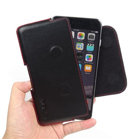 iphone    leather holster pouch case red stitch