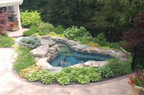 Backyard Spa Landscaping Ideas Backyard Spa Fireplace And Bar Eclectic Pool Chicago By Jj Hayden Inc