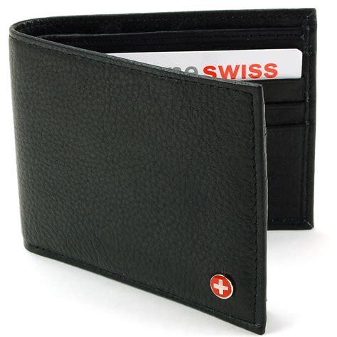 Hoodie Billfold Bisa 1 alpine swiss rfid blocking mens leather bifold wallet removable id card passcase ebay
