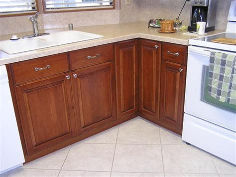 trailer kitchen cabinets mobile home kitchen made out of maple cabinets and alder