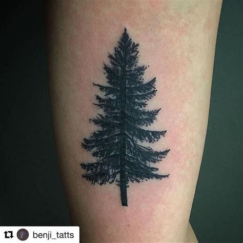 pine tattoo black ink pine tree on bicep