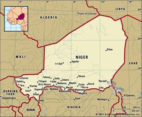 political map of niger niger britannica
