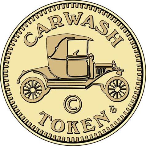 antique car wash token design  car wash token