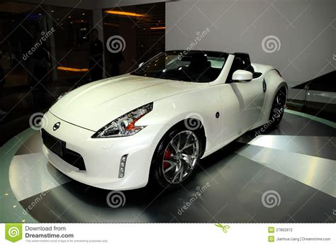 nissan sports car 370z price nissan 370z convertible sports car editorial photography