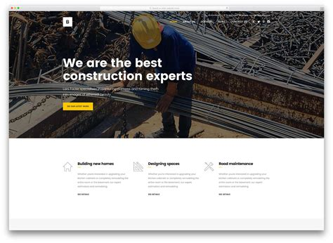 creative construction and design 30 best construction company themes 2018 colorlib