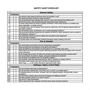 Sample audit checklist template 8 free documents in pdf