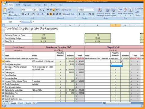 wedding budget excel template wedding ideas uxjj me