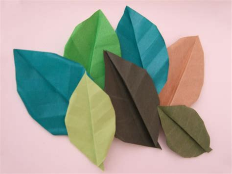 Origami Leaves - origami fall leaves paper kawaii