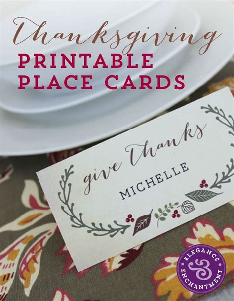 thanksgiving place card holder templates best 25 printable place cards ideas on diy