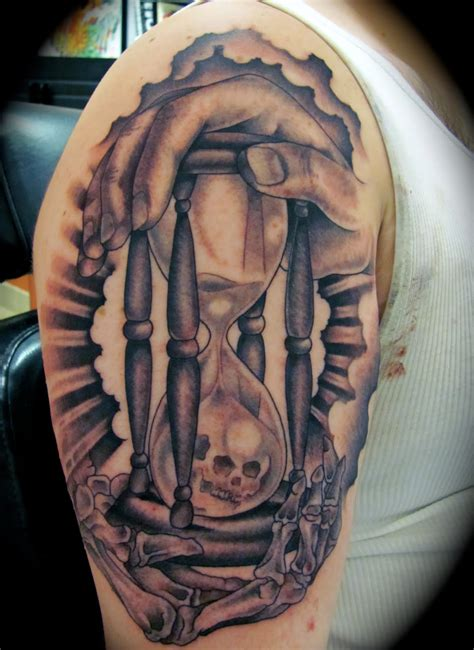 time tattoo hourglass tattoos designs ideas and meaning tattoos for you