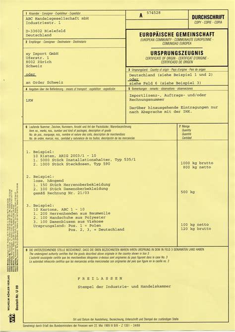 Muster Rechnung Ihk downloads bescheinigungen au 223 enwirtschaftsverkehr