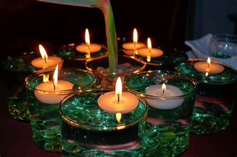 velas flotantes  decoracion aluzza  en