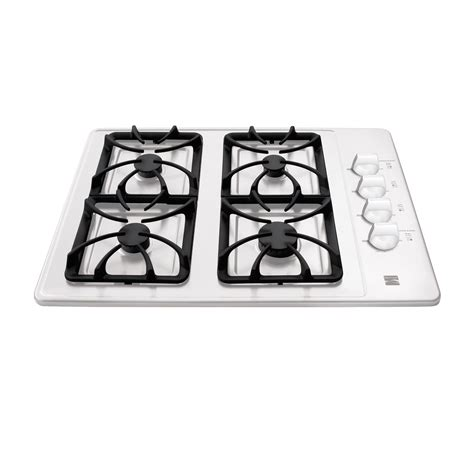 White Gas Cooktops kenmore 32412 30 quot gas cooktop white sears outlet