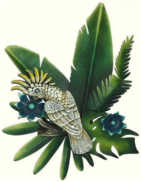 tropical metal wall decor tropical bird fish and sun wall tropical themed wall decor